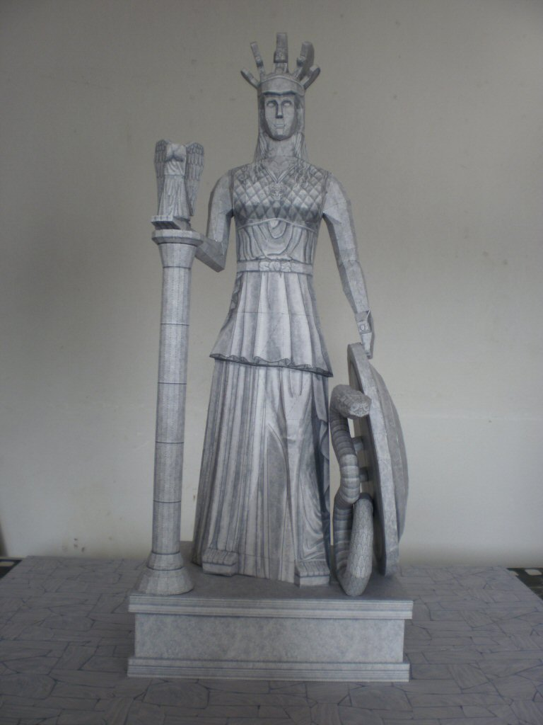 Statue of Athena | Paper dioramas by Moustagua | Pharaon Website